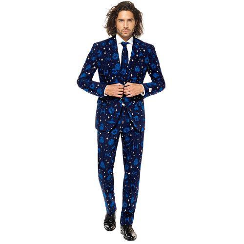 Men's OppoSuits Slim-Fit Star Wars Starry Side Novelty Suit & Tie Set