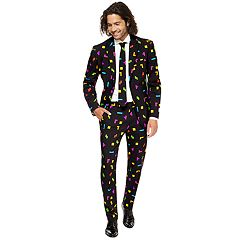 Men's OppoSuits Slim-Fit Tetris Novelty Suit & Tie Set