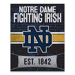 Notre Dame Fighting Irish Brickyard Canvas Wall Art