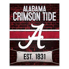 Alabama Crimson Tide Brickyard Canvas Wall Art