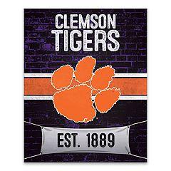 Clemson Tigers Brickyard Canvas Wall Art