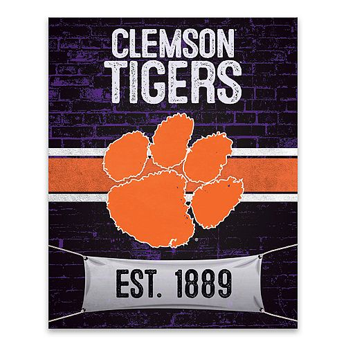 Clemson Tigers Brickyard Canvas Wall Art