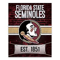Florida State Seminoles Brickyard Canvas Wall Art