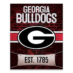 Georgia Bulldogs Brickyard Canvas Wall Art
