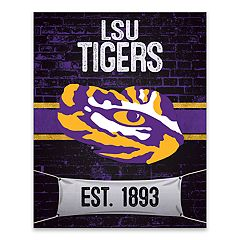 LSU Tigers Brickyard Canvas Wall Art