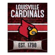 Louisville Cardinals Brickyard Canvas Wall Art