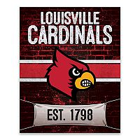 Louisville Cardinals Brickyard Canvas Wall Art