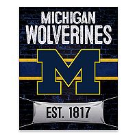 Michigan Wolverines Brickyard Canvas Wall Art