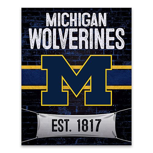 Michigan Wolverines Brickyard Canvas Wall Art