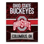 Ohio State Buckeyes Brickyard Canvas Wall Art