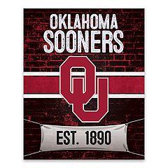 Oklahoma Sooners Brickyard Canvas Wall Art