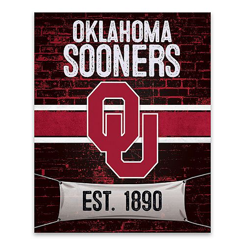 Oklahoma Sooners Brickyard Canvas Wall Art