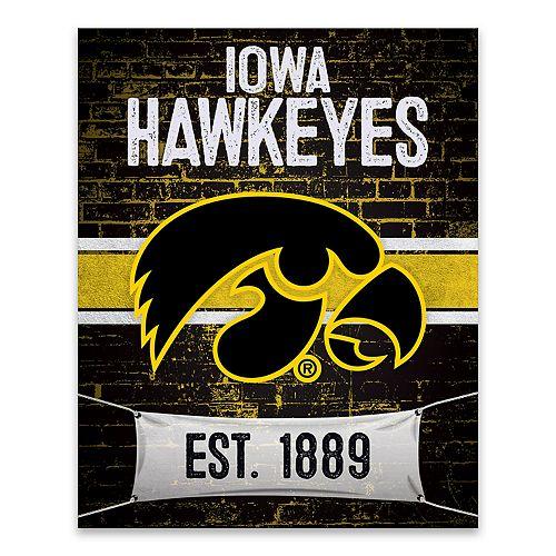 Iowa Hawkeyes Brickyard Canvas Wall Art