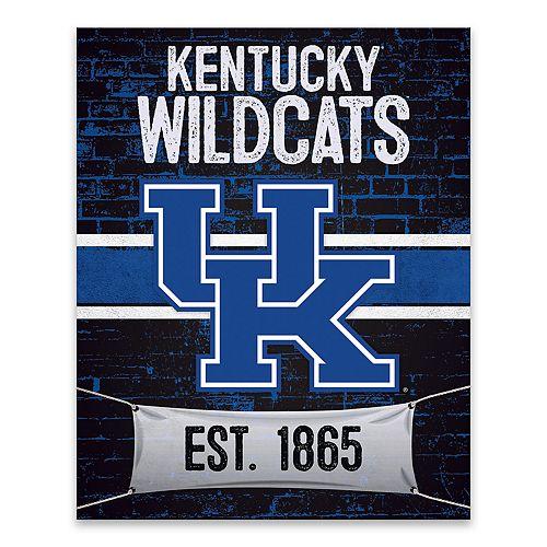 Kentucky Wildcats Brickyard Canvas Wall Art