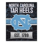 North Carolina Tar Heels Brickyard Canvas Wall Art