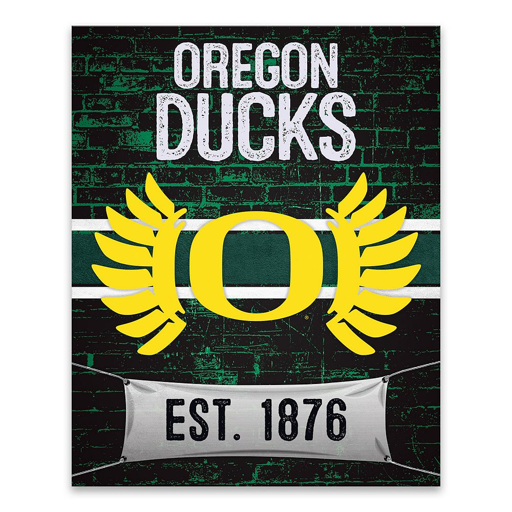 Oregon Ducks Brickyard Canvas Wall Art