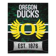 Oregon Ducks Brickyard Canvas Wall Art
