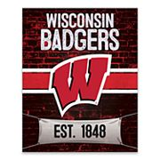 Wisconsin Badgers Brickyard Canvas Wall Art