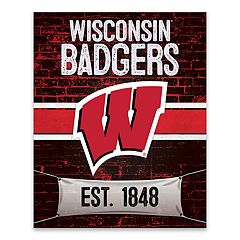 Wisconsin Badgers Brickyard Canvas Wall Art
