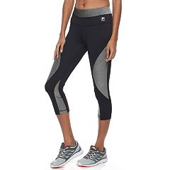 Women's FILA SPORT® Ribbed Panel Capri Leggings