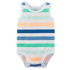 Baby Boy Carter's Striped Sleeveless Bodysuit