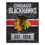 Chicago Blackhawks Brickyard Canvas Wall Art