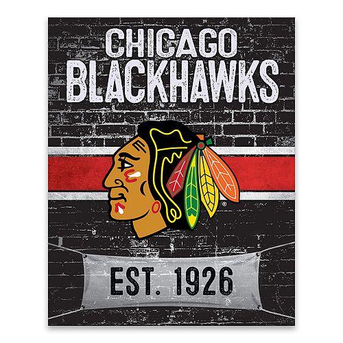 Chicago Blackhawks Brickyard Canvas Wall Art