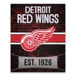 Detroit Red Wings Brickyard Canvas Wall Art
