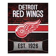Detroit Red Wings Brickyard Canvas Wall Art