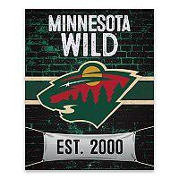 Minnesota Wild Brickyard Canvas Wall Art