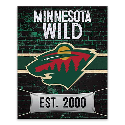 Minnesota Wild Brickyard Canvas Wall Art
