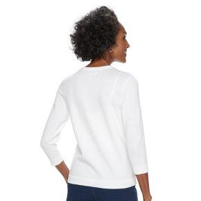 Women's Croft & Barrow® Lace Front Cardigan