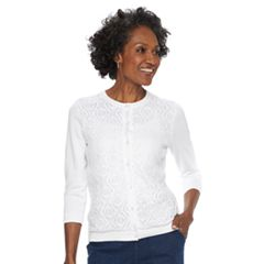 Women's Croft & Barrow® Lace Front Cardigan