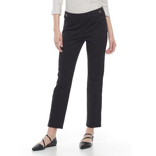Women's Dana Buchman Embellished Straight-Leg Ankle Pants