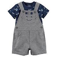 Baby Boy Carter's Space & Rocket Tee & Alien Shortalls Set