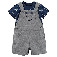Baby Boy Carter's Space & Rocket Tee & Alien Shortalls Set