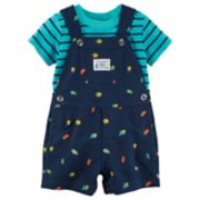 Baby Boy Carter's Striped Tee & Bugs Shortalls Set