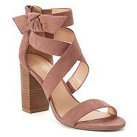 LC Lauren Conrad Girlfriend Women's High Heel Sandals