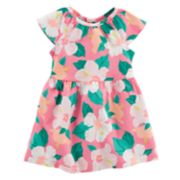 Baby Girl Carter's Hibiscus Flower Pattern Dress