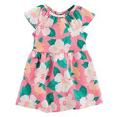 Baby Girl Carter's Hibiscus Flower Pattern Dress