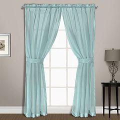 United Curtain Co. Summit Sheer Voile Window Curtain Set