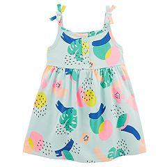 Baby Girl Carter's Tropical Henley Tank Dress