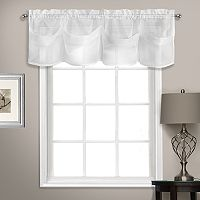 United Curtain Co. Summit Sheer Voile Tuck Window Valance