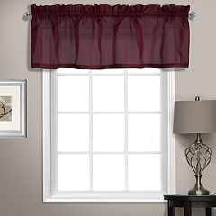 United Curtain Co. Summit Sheer Voile Straight Window Valance