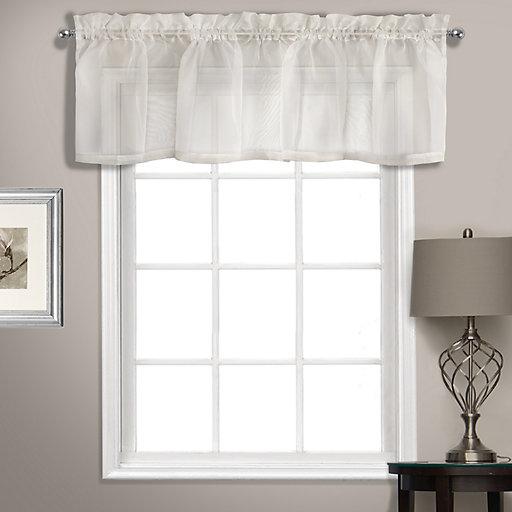 United Curtain Co Summit Sheer Voile Straight Window Valance