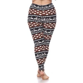 Plus Size White Mark Holiday Printed Leggings