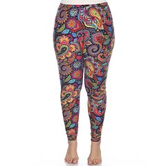 baebc862a19389 Plus Size White Mark Holiday Printed Leggings