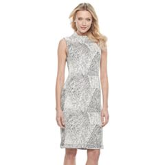 Women's Sharagano Textured Mockneck Sheath Dress
