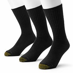 Men's GOLDTOE 3-pk. Cotton Fluffies Crew Socks