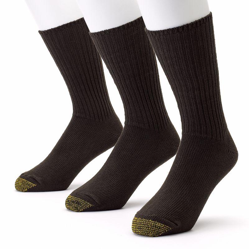 GOLDTOE 3-pk. Cotton Fluffies Crew Socks